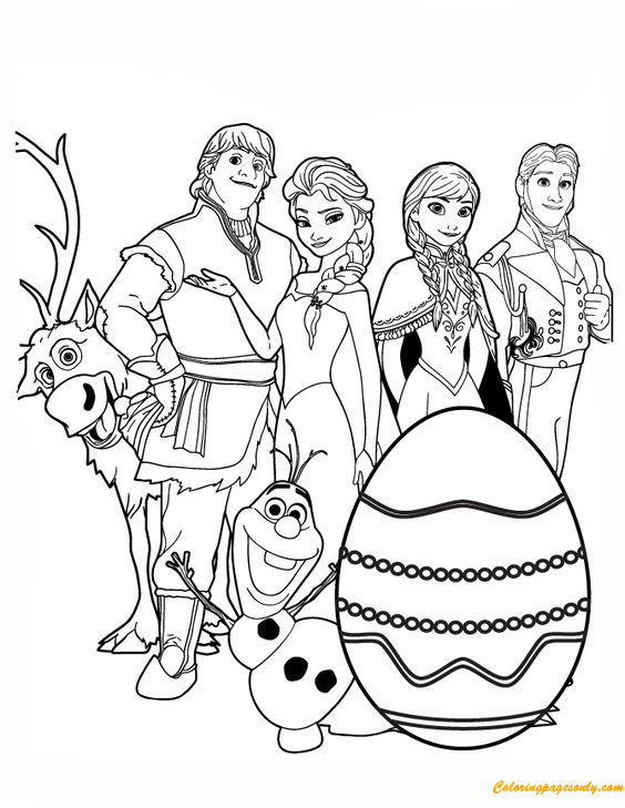 Frozen With Easter Egg Coloring Pages Cartoons Coloring Pages Free Printable Coloring Pages Online
