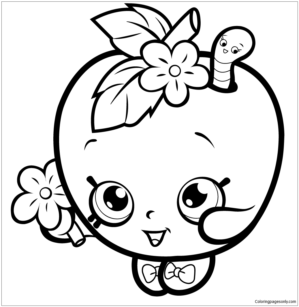 Fruit Apple Blossom Coloring Page