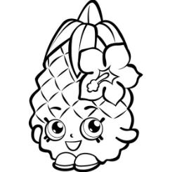 Fruit Pineapple Shopkins Coloring Page