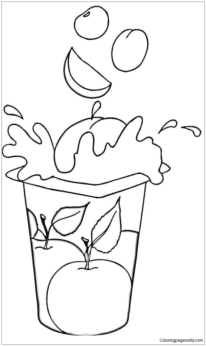 Fruit yogurt coloring page free coloring pages online for Yogurt coloring page