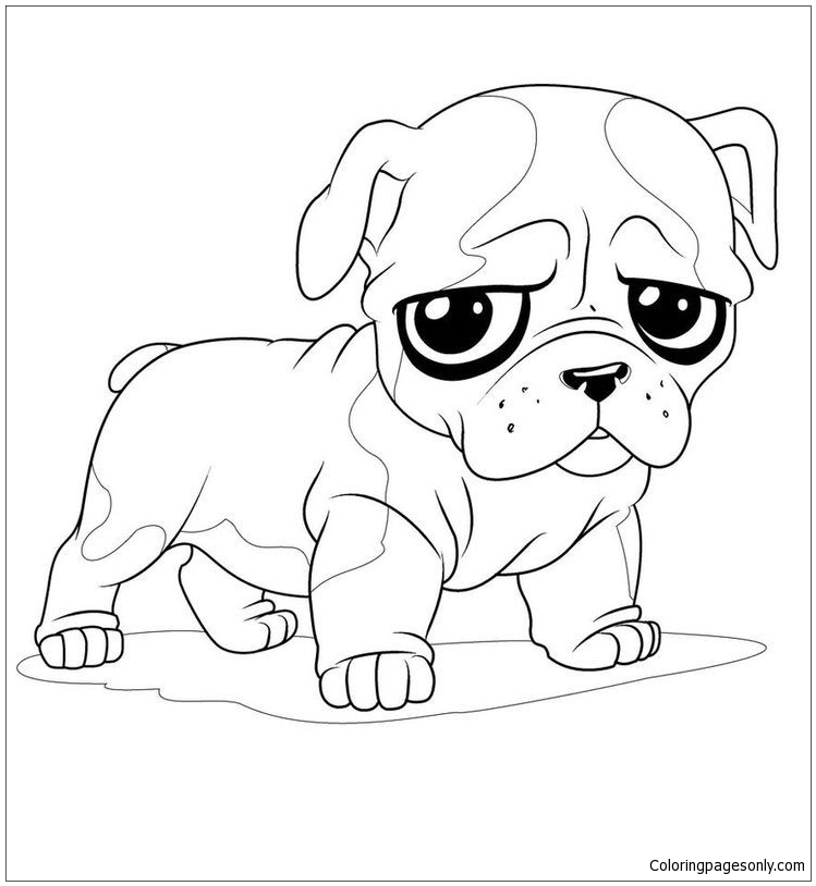 Fun Puppy Coloring Page