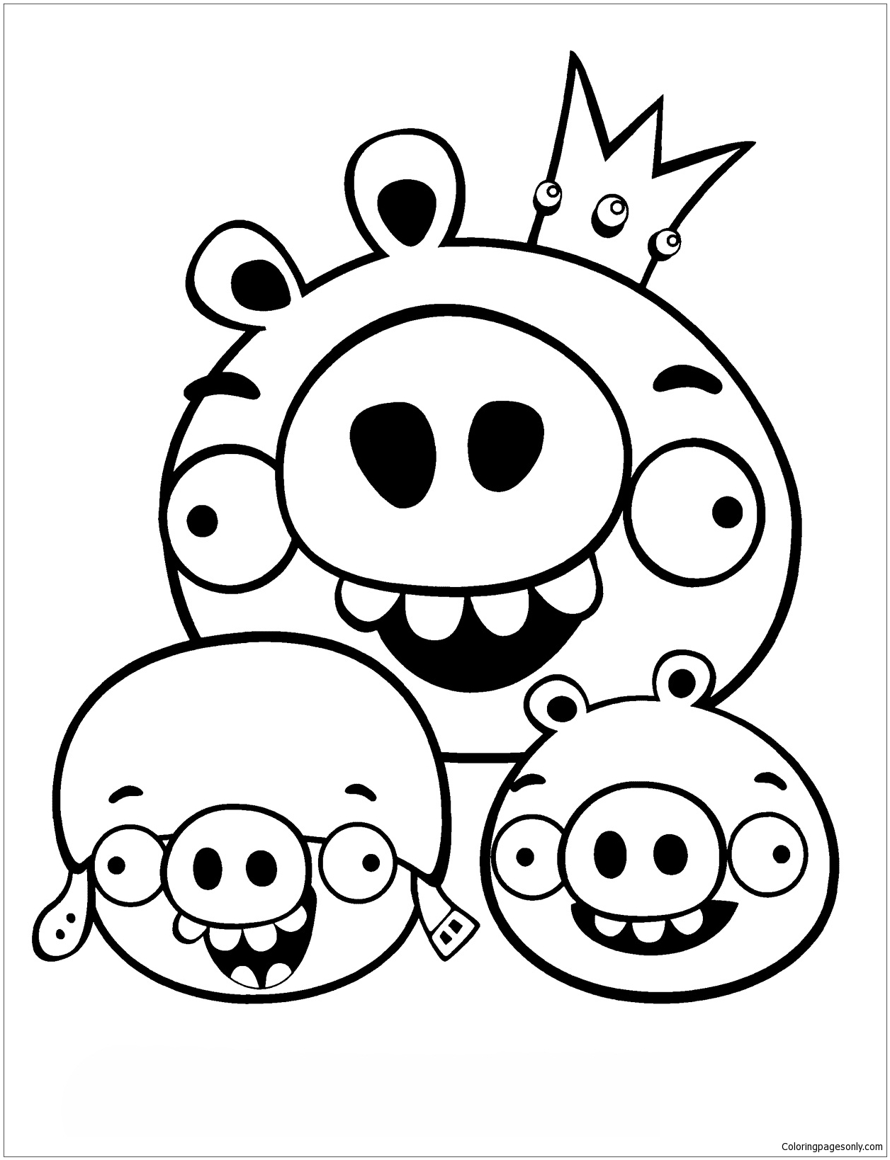 Funny Angry Birds Coloring Page Free Coloring Pages Online