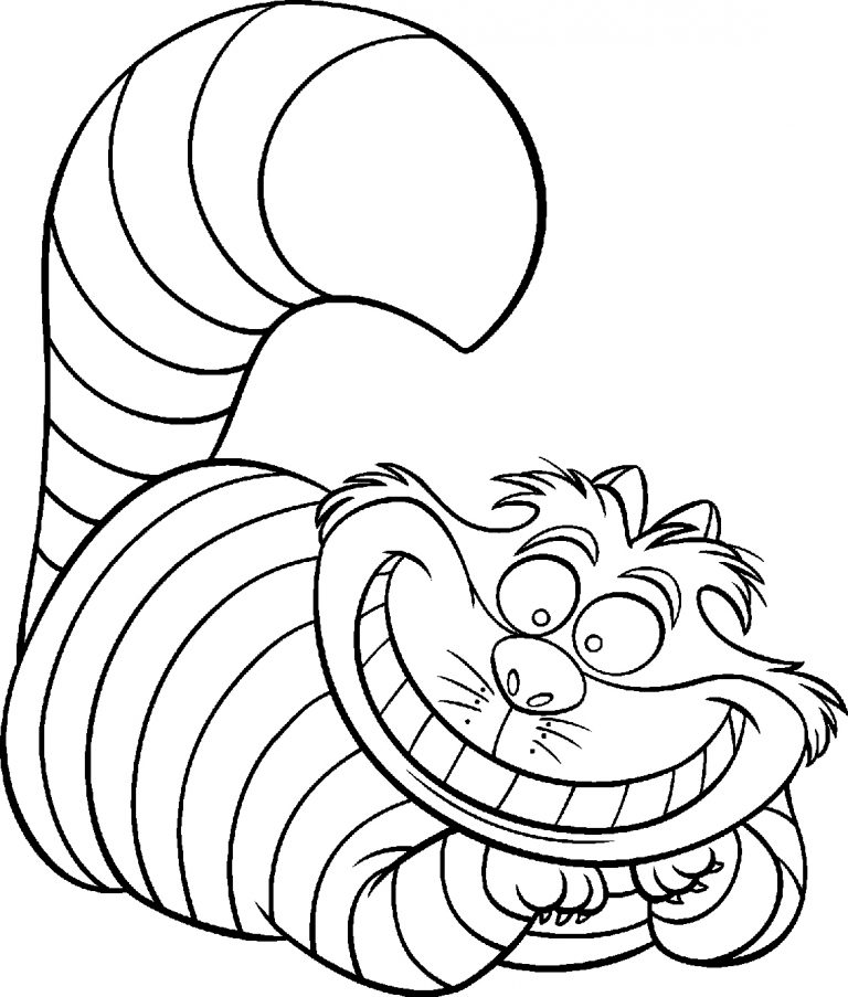 Funny Cat Coloring Page
