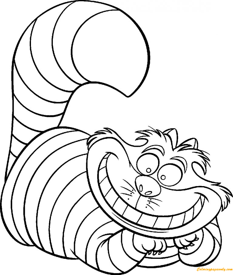Funny Cat Coloring Pages