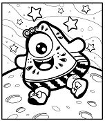 Funny Characters Coloring Page