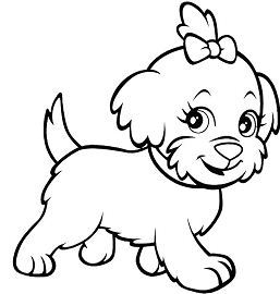 Funny Dog 1 Coloring Page