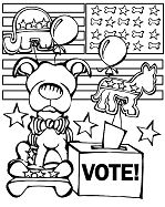 Funny Election Day Coloring Page