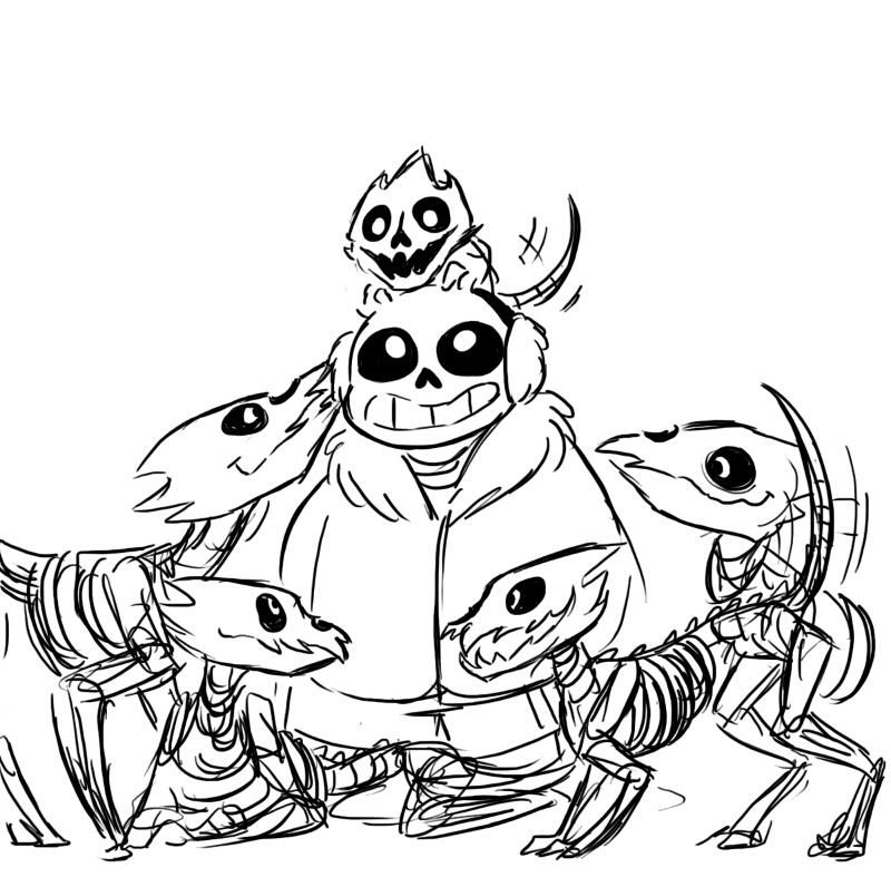Funny Gaster Coloring Page
