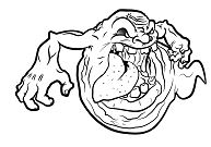 Funny Ghost Coloring Page