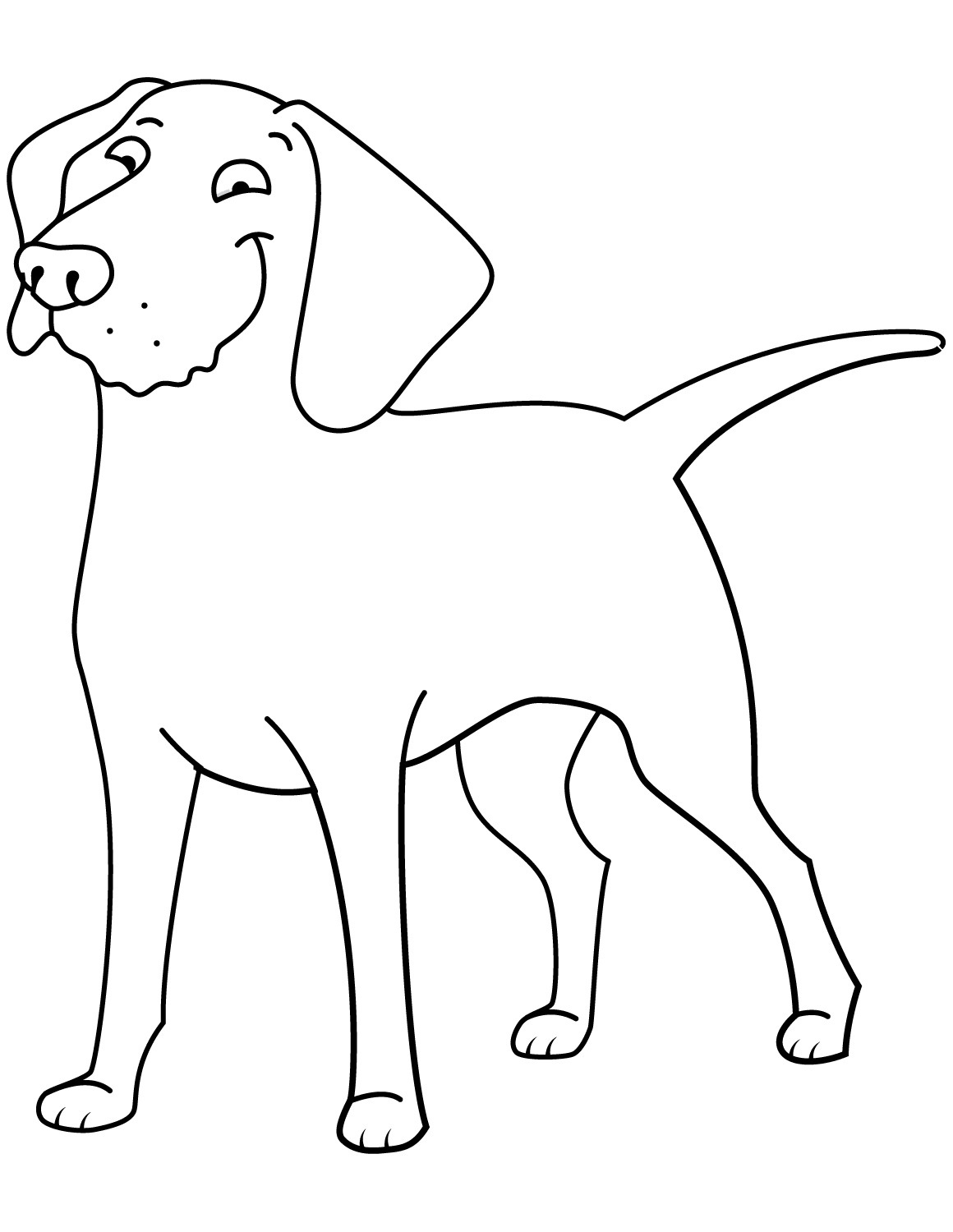 Funny Golden Retriever Coloring Page