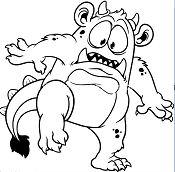 Funny Gray Monster