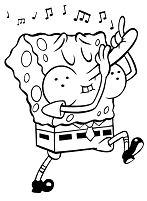 Funny Spongebob 1 Coloring Page