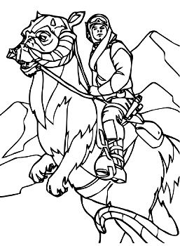 Funny Star Wars 1 Coloring Page