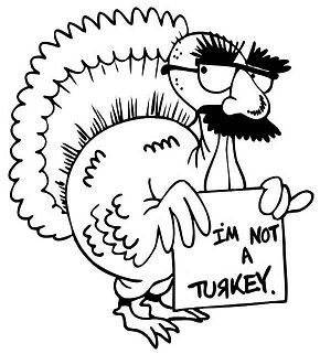 Funny Thanksgiving Turkey Coloring Page