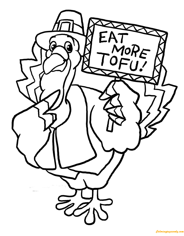Funny Thanksgiving with A Turkey Coloring Page - Free Coloring ...
