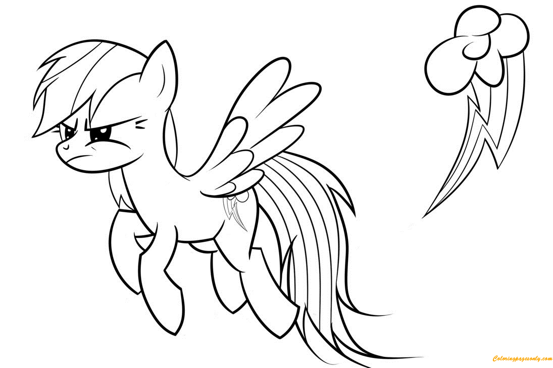 Furious Rainbow Dash Coloring Page