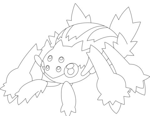Galvantula Pokemon Coloring Page