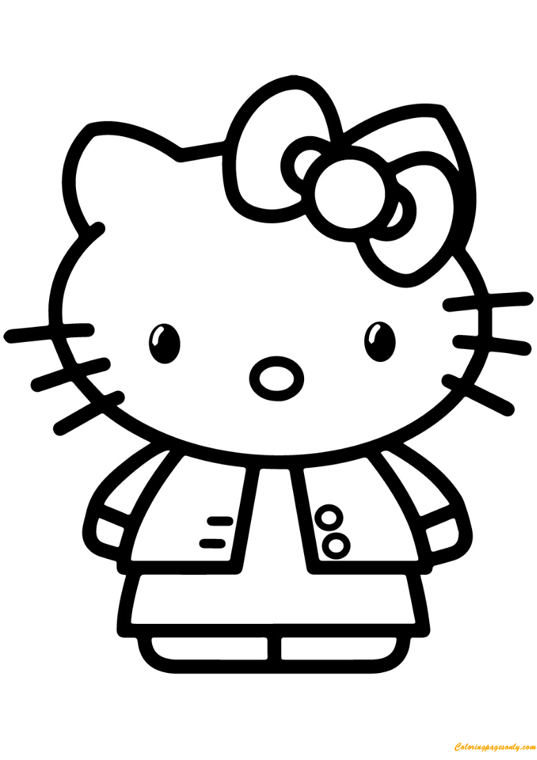 Gambar Hello Kitty Coloring Page Free Coloring Pages Online