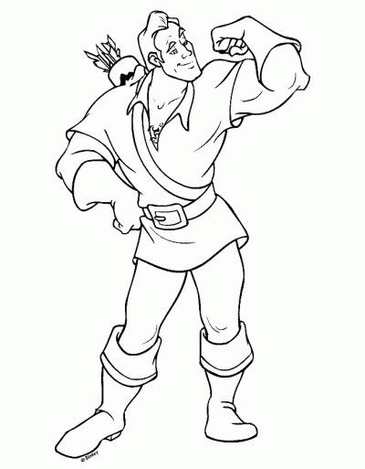 Gaston Coloring Page