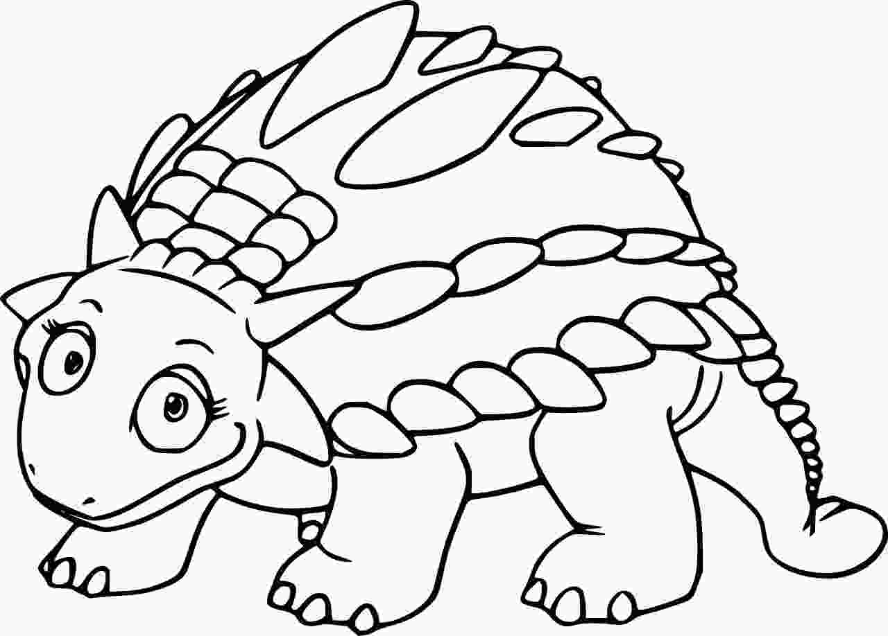 Gastonia had large spikes covering it`s body Coloring Page