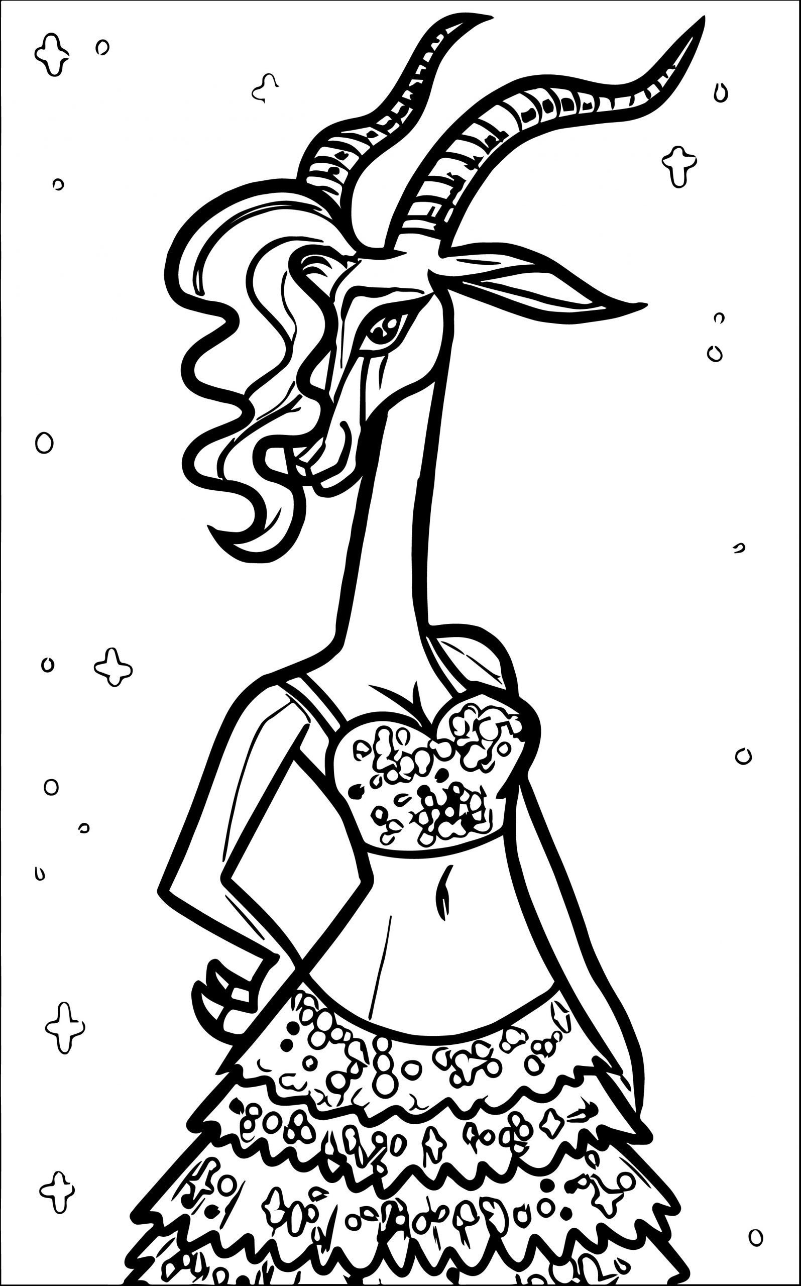 Gazelle Coloring Page