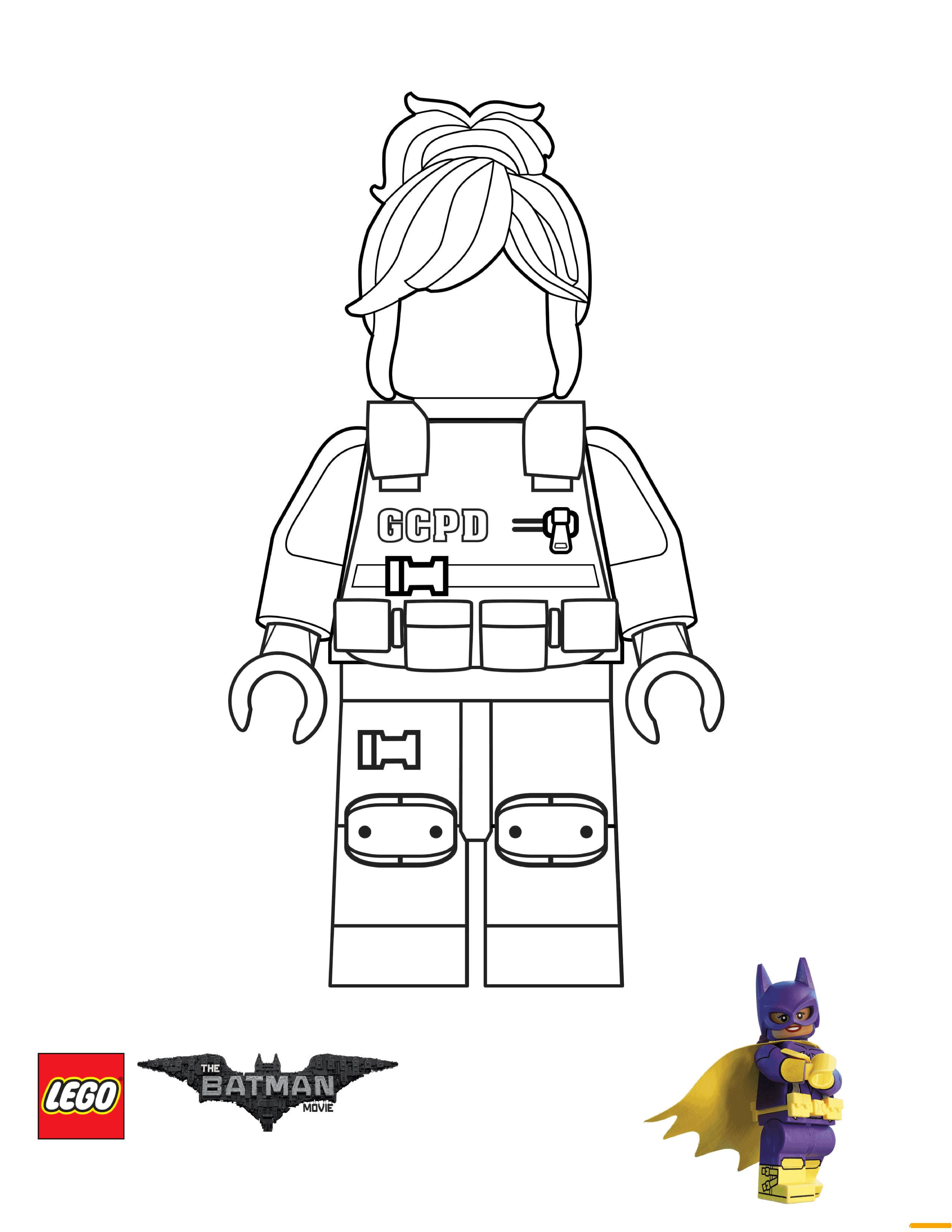 GCPD Barbara Gordon Lego Batman Movie Coloring Page Free