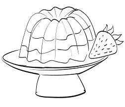 Gelatin Dessert  Coloring Page