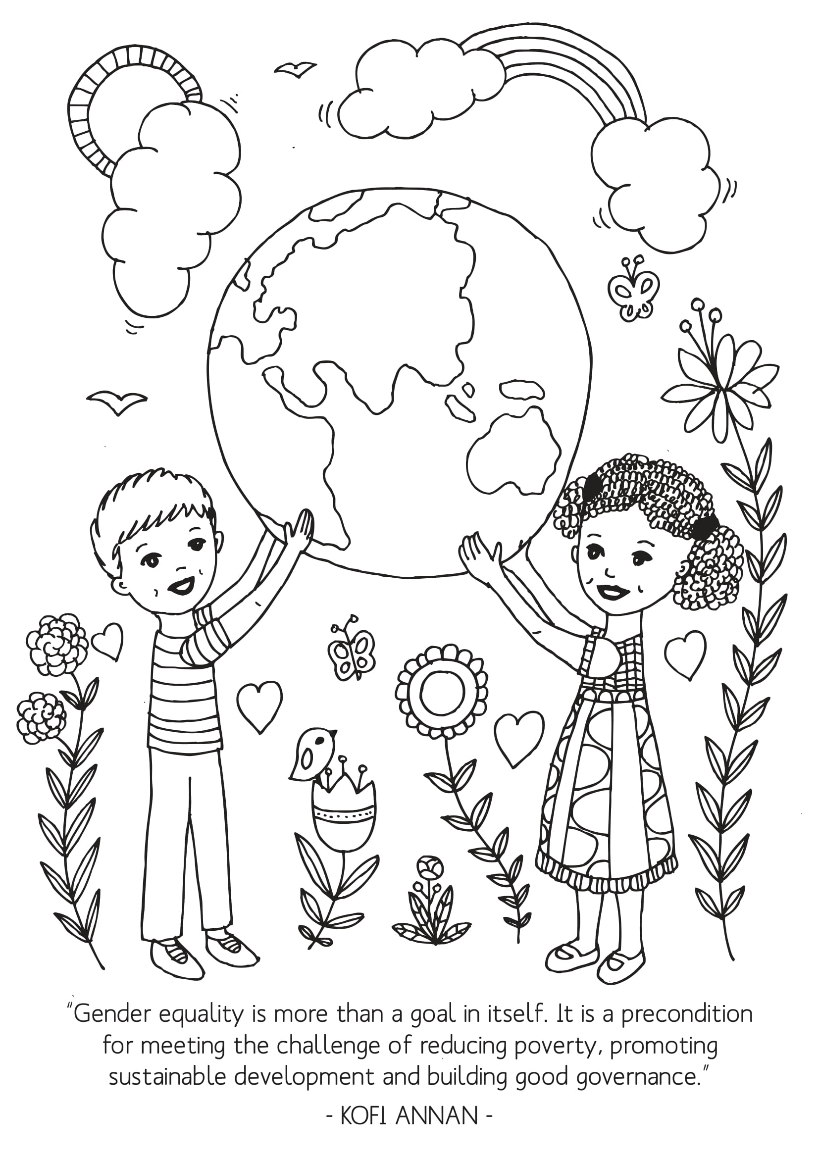 Gender equality Coloring Page