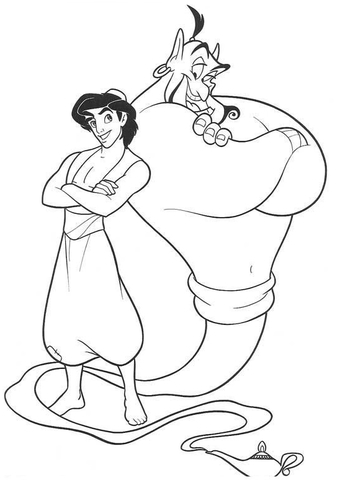 Genie And Aladdin  from Aladdin