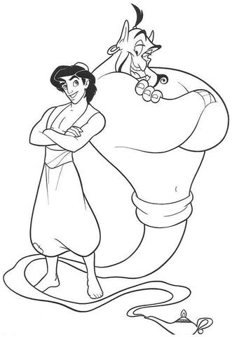 Genie And Aladdin  from Aladdin