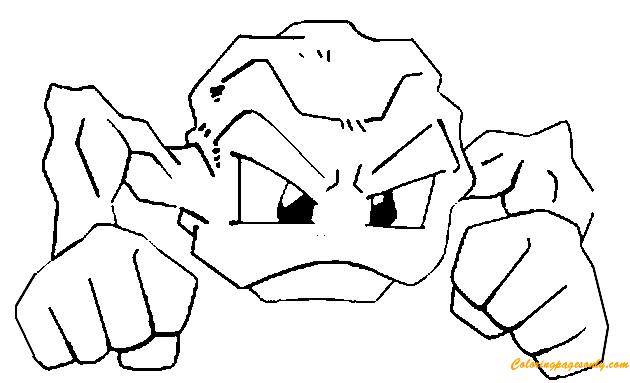 Dibujos Para Colorear De Pokemon: Geodude Pokemon Coloring Page