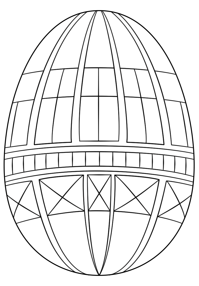 Geometric Decorated Easter Egg