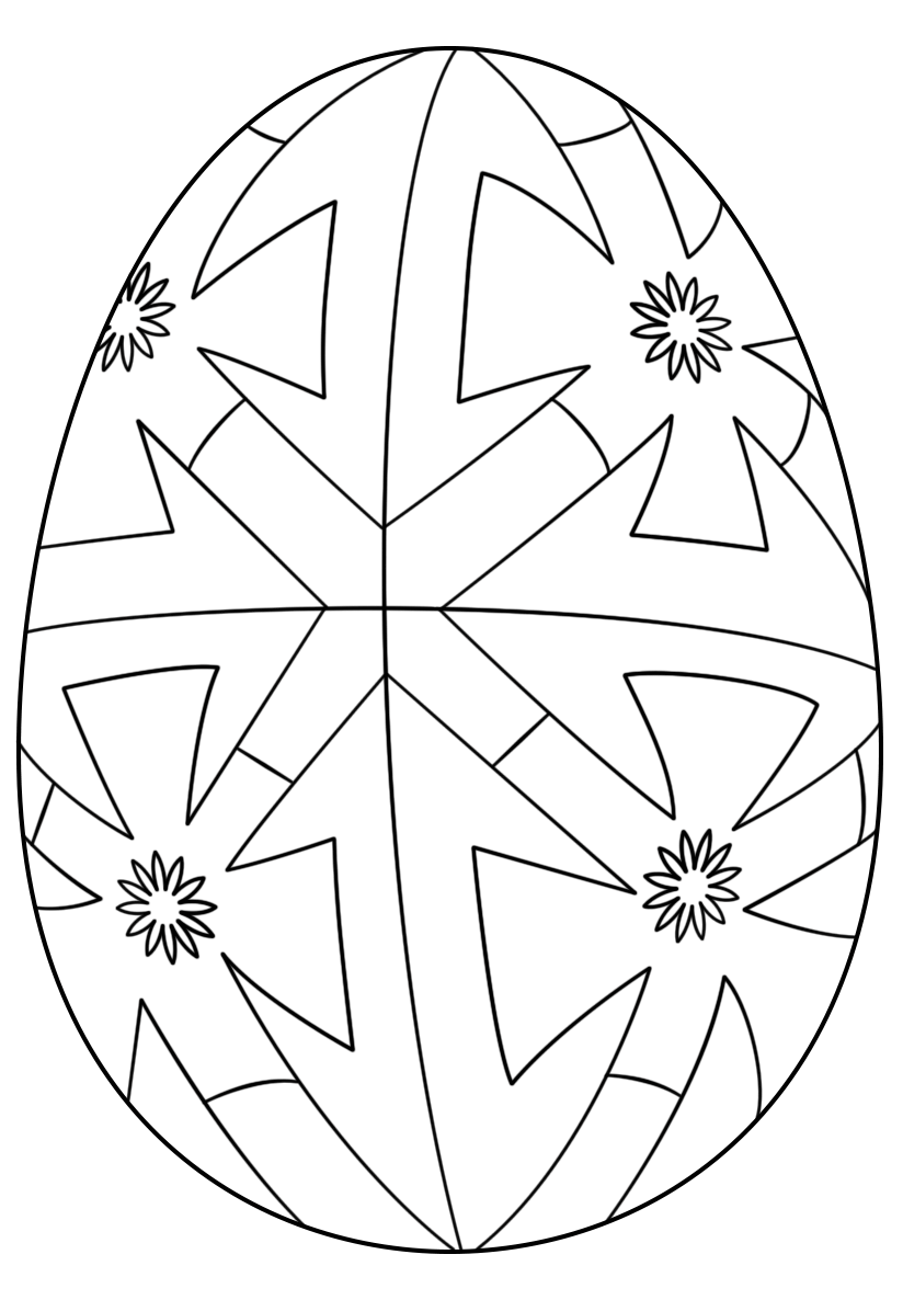 Geometric Decorated Easter Eggs