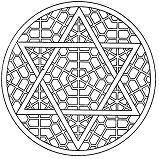 Geometry blocks Mandala