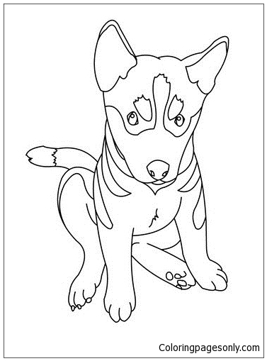 German Shepherd Puppy Coloring