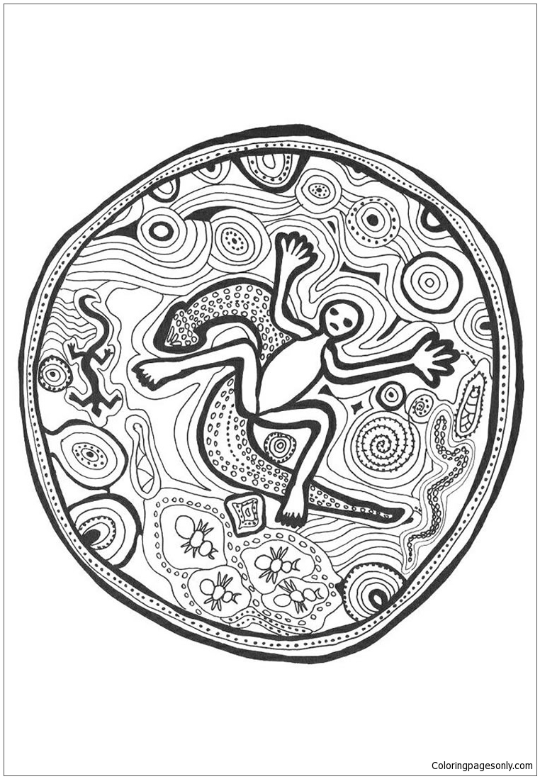 Ghost Of Earth Mandala Coloring Page Free Coloring Pages Online