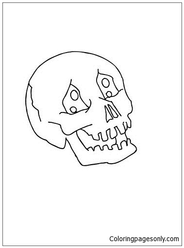 Ghostly Skull Coloring Page