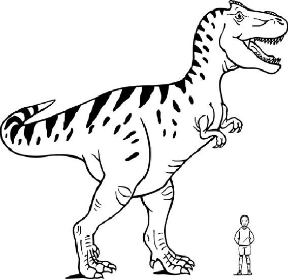 Giant Allosaurus Coloring Page