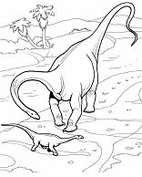 Giant Dinosaur Diplodocus Coloring Page