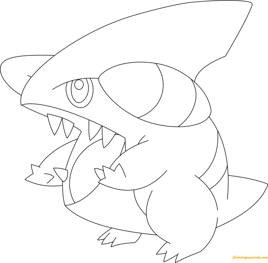 Gible Pokemon Coloring Page