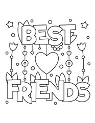 Gift For Friends On Valentines Day Coloring Page