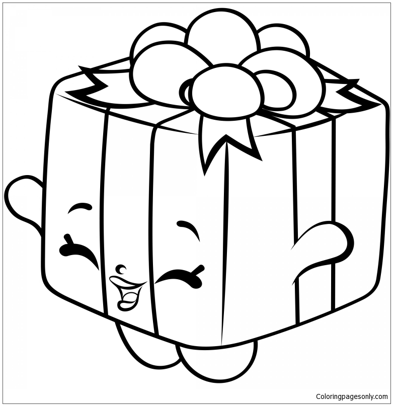 Gigi Gift Shopkins Season 7 Coloring Page