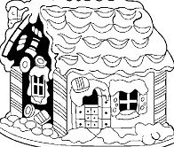 Ginger Bread House Coloring Page