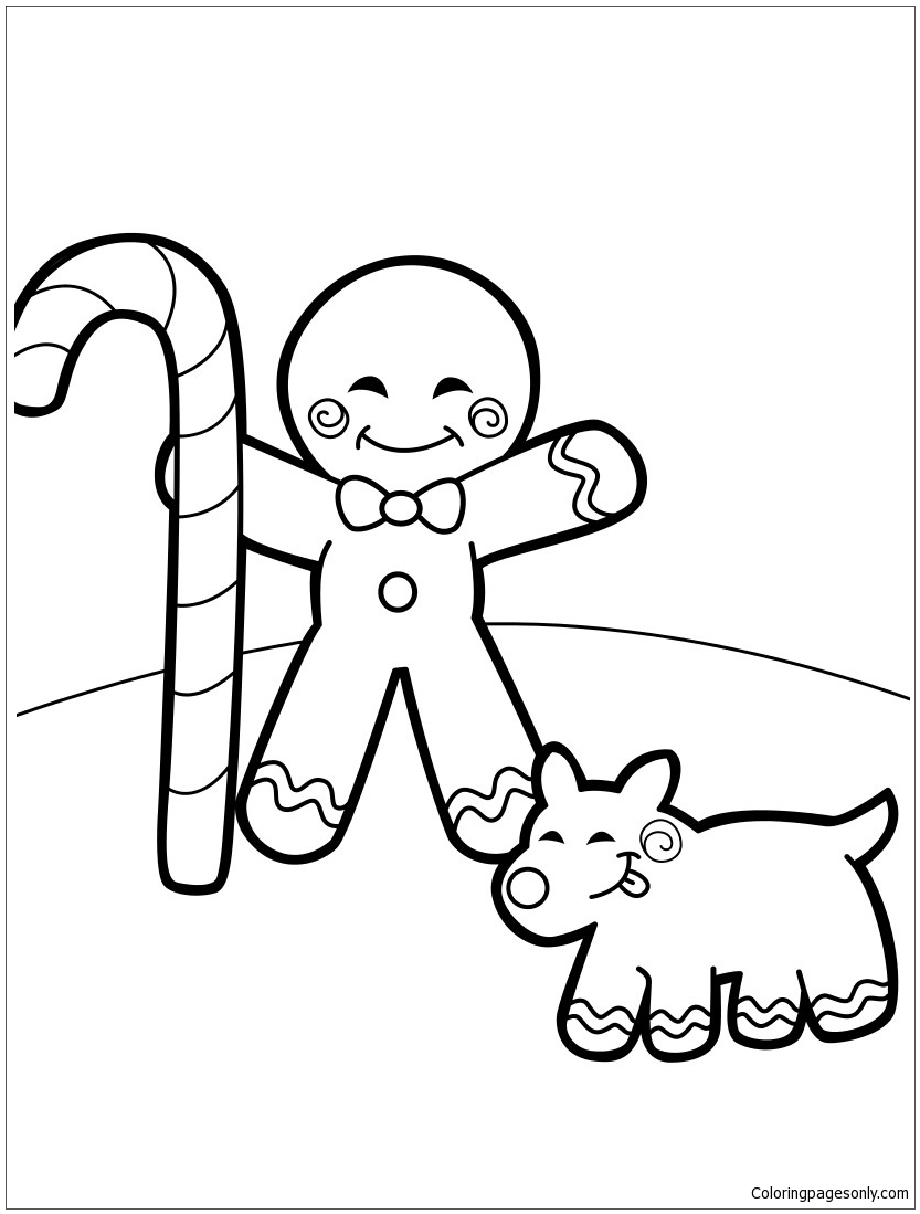 Free Printable Gingerbread Man Coloring Pages For Kids | 1099x833