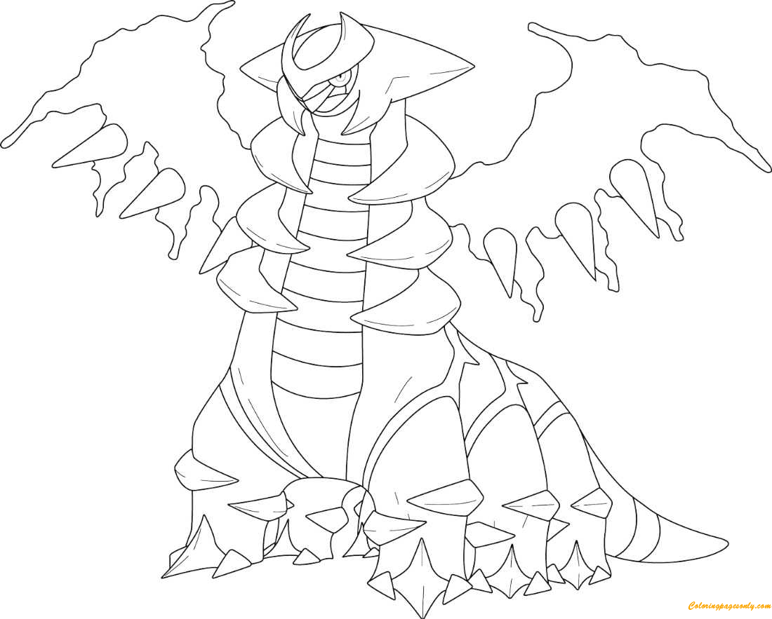 Giratina In Altered Form From Pokemon Coloring Page Free Coloring