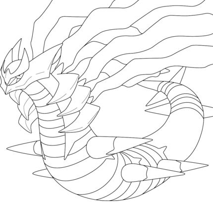 Giratina In Origin Form From Pokemon Coloring Page