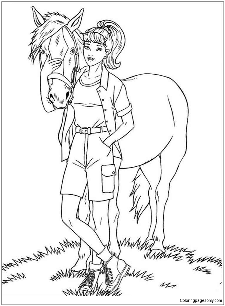 - Girl And Horse Coloring Page - Free Coloring Pages Online