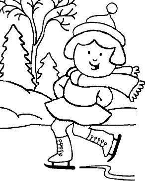 Girl Skating Winter