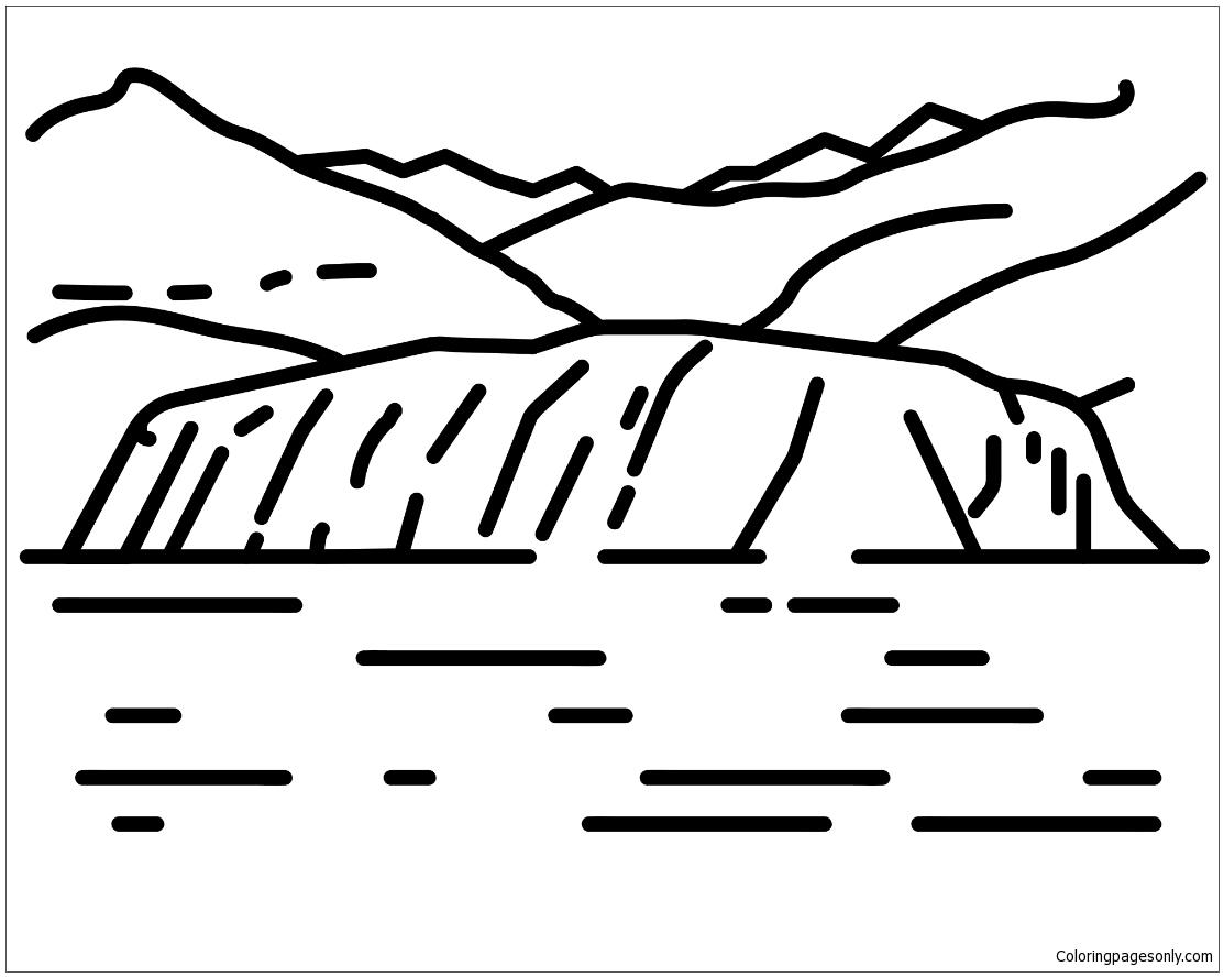 Glaciar Coloring Page