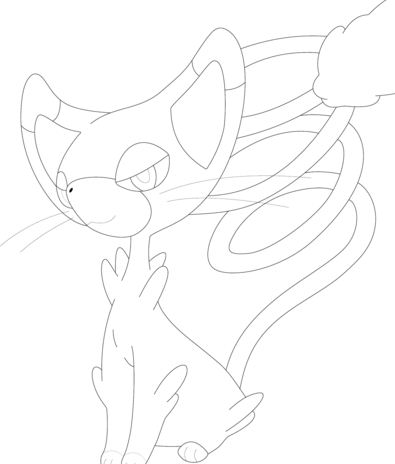Glameow Pokemon Coloring Page